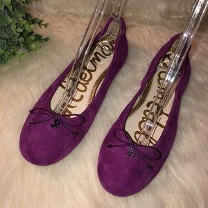 "SAM EDELMAN Sz 9.5 ""Felicia"" Purple Suede Flats"